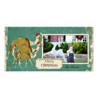 Tarjeta soñadora de la foto del navidad de los cam plantilla para tarjeta de foto