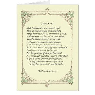 Tarjeta Soneto de Shakespeare # 18