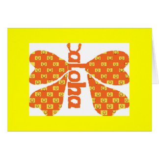 Tarjeta sonriente de la mariposa de la hawaiana