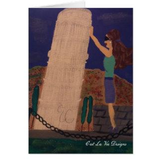 Tarjeta Soporte de la torre inclinada de Pisa