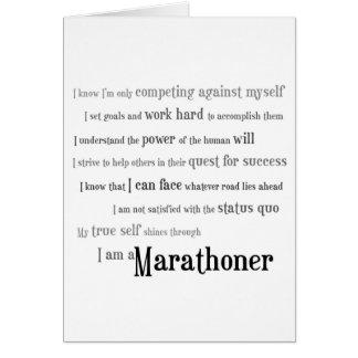 Tarjeta Soy una buena suerte del Marathoner