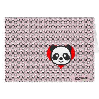 Tarjeta ¡Soy una panda!  Rosa