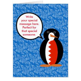 Tarjeta Sr. de Bahrein Penguin del día de fiesta