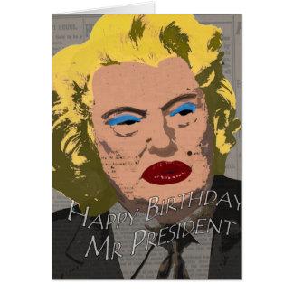 Tarjeta Sr. presidente del feliz cumpleaños