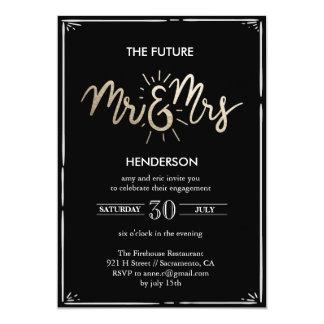 Tarjeta Sr. y la señora futuros Engagement Invitation
