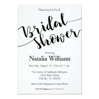 Tarjeta Sr. y señora blancos negros Bridal Shower