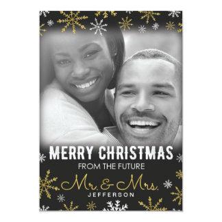 Tarjeta Sr. y señora futuros Christmas Holiday