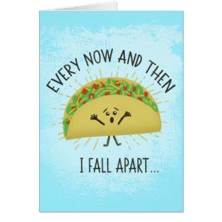 Tarjeta Srta. divertida You del Taco