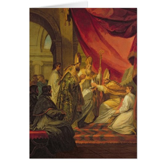 Tarjeta St Augustine ordenó como el obispo