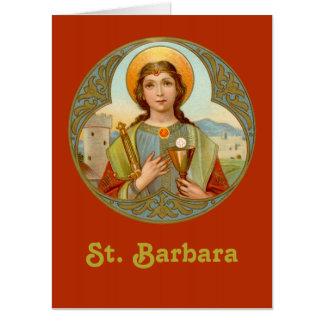 "Tarjeta St. Barbara (BK 001) 18"" vertical de x24"" XLge"