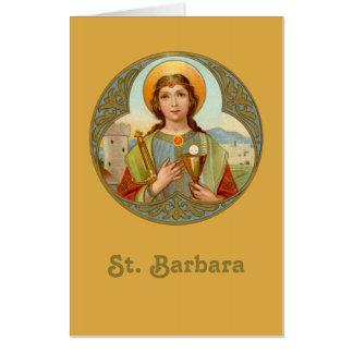 "Tarjeta St. Barbara (BK 001) 24"" vertical de x36"" XLge"