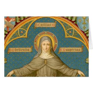 Tarjeta St. Clare de Assisi y volutas de los votos (SAU