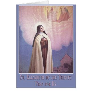 Tarjeta St. Elizabeth de la trinidad, monja carmelita