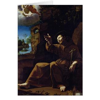 Tarjeta St Francis de Assisi consoló por un ángel