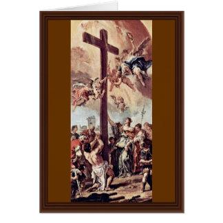 Tarjeta St. Helena encontró el proyecto cruzado santo de