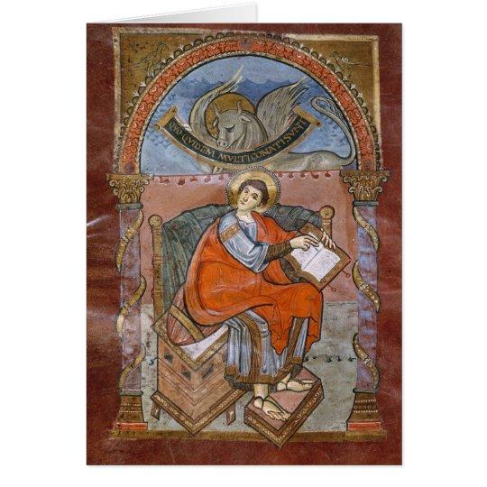 Tarjeta St Luke, del evangelio de St. Riquier