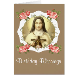 Tarjeta St. Teresa del niño Jesús poca flor