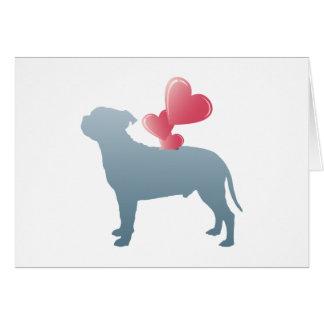 Tarjeta Staffordshire bull terrier