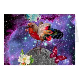 Tarjeta Steampunk Bird