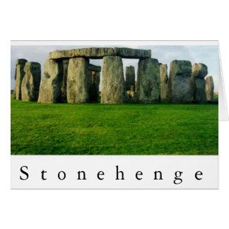 Tarjeta Stonehenge en el amanecer II