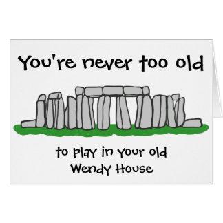 Tarjeta Stonehenge - nunca demasiado viejo cumpleaños