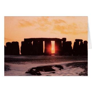 Tarjeta Stonehenge, solsticio de invierno