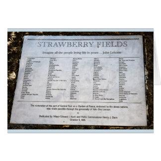 Tarjeta Strawberry Fields NYC