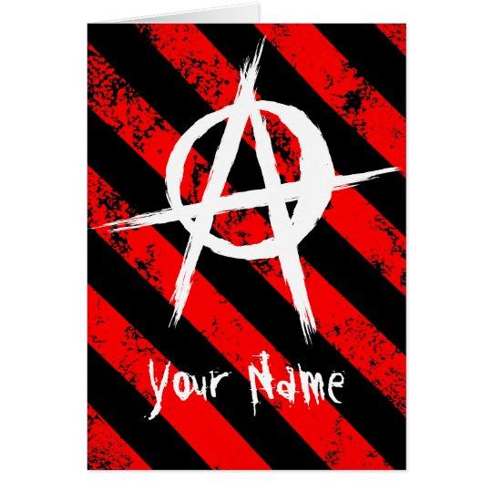Tarjeta Stripes Punk / Anarchist cracked symbol
