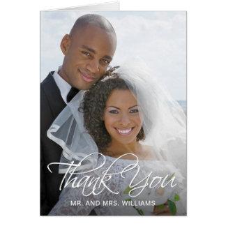 Tarjeta Su foto especial del boda le agradece