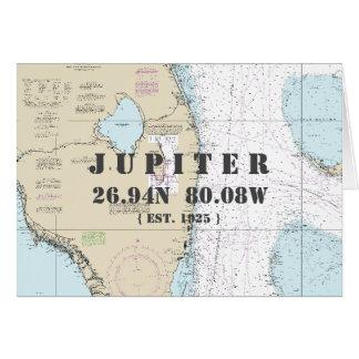 Tarjeta SU navegante náutico de la carta de la Florida de