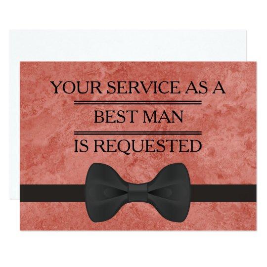 Tarjeta Su servicio como mejor petición del hombre del