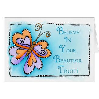 Tarjeta Su verdad hermosa