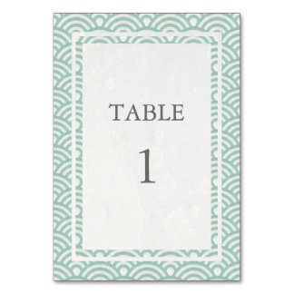 Tarjeta Suavemente verde + Número blanco de la tabla de