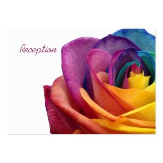 Tarjeta subió arco iris de la recepción tarjetas de visita grandes