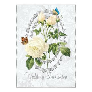 Tarjeta subió boda blanco de la invitación del