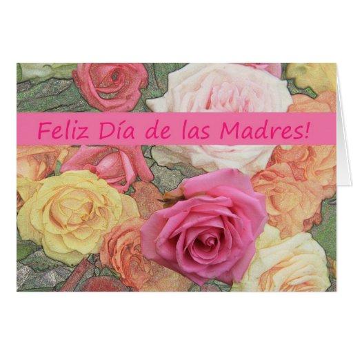 Tarjeta subió española del día de madre