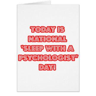 """Tarjeta """"Sueño con el día nacional de un psicólogo"""""""