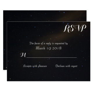 Tarjeta Sueños celestiales RSVP