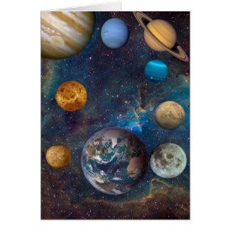 Tarjeta Sueños del planeta del cosmos -1