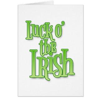 Tarjeta Suerte del día del St Patrick irlandés