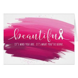 Tarjeta Superviviente del cáncer de pecho usted es hermoso