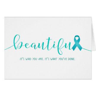 Tarjeta Superviviente del cáncer ovárico usted es hermoso