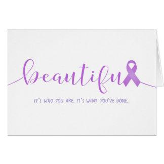 Tarjeta Superviviente del cáncer usted es hermoso
