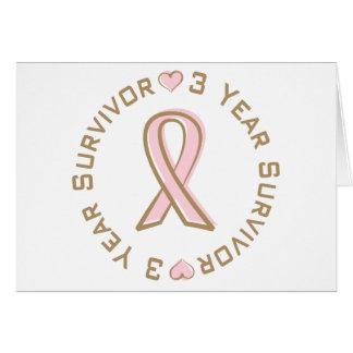 Tarjeta Superviviente rosado del cáncer de pecho de la