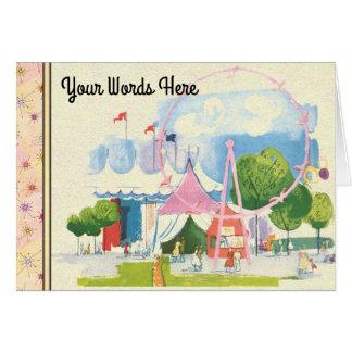 Tarjeta Sus palabras en acuarela del circo