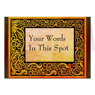 Tarjeta Sus palabras en botánico retro con los grabar en