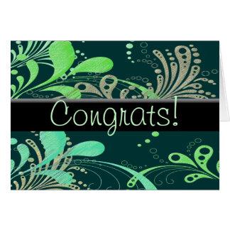 Tarjeta ¡Swirly Congrats!