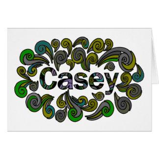 Tarjeta Swirly Pascua feliz para Casey