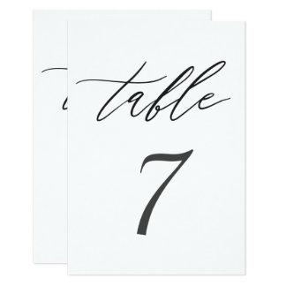 Tarjeta Tabla blanco y negro elegante simple del boda