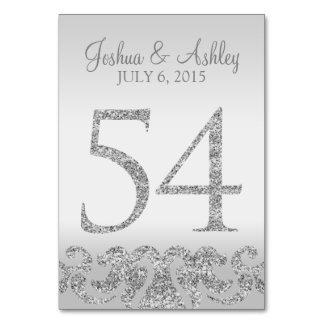 Tarjeta Tabla de plata Numbers-54 del boda de la mirada